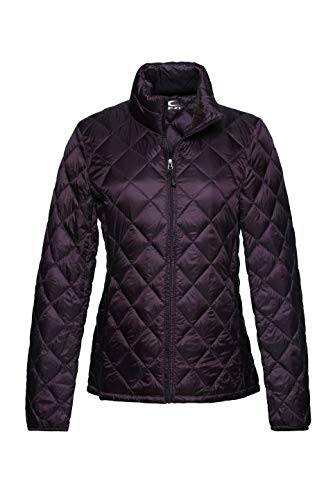 Purple Puffer - XPOSURZONE Women Packable Down Jacket Lightweight Puffer Coat Mahogany S