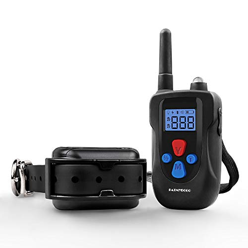 - PATMYDOGO Dog Training Collar Rechargeable 1500ft and IP67 Waterproof Remote Shock Collar with Beep, Vibration, Electric Shock Collar Fit for Small/Medium/Large Dog