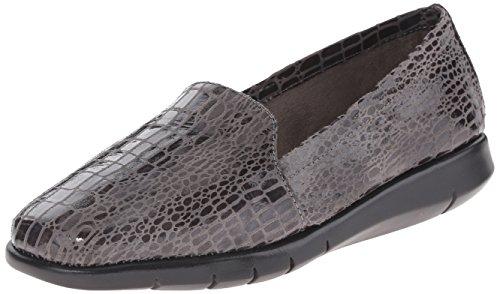 Aerosoles Women's Army Slip-On Loafer Grey Crocodile