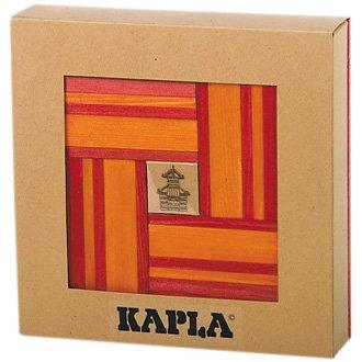 Kapla 40 Unique Building Blocks w/ Book Red and Orange, Baby & Kids Zone