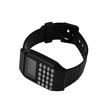 Goldyqin Los niños práctica Estudiantes Calculadora Reloj Digital de Silicona Color sólido calculadora de Uso Muy cómodo Reloj de Pulsera para niños: ...