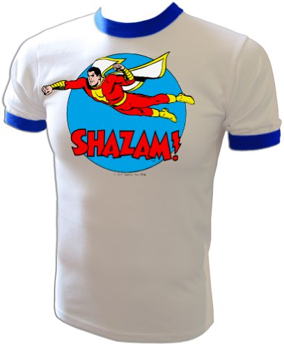 Marvel+Comics+Retro+Shirt Products : Vintage 1976 DC Comics Original Captain Marvel Shazam Mego Style t-shirt
