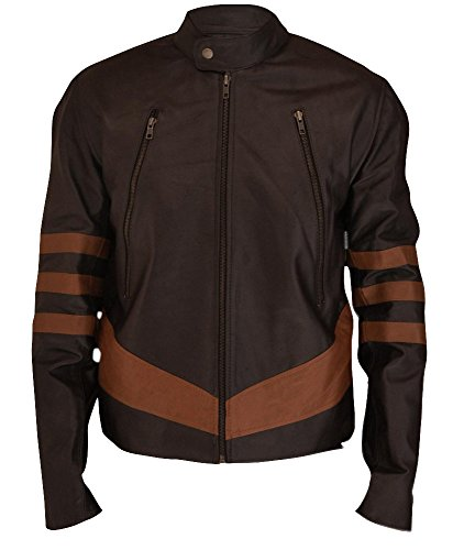 F&H Boy's X-Men Origins Wolverine Jacket M Brown - Wolverine Brown Costume