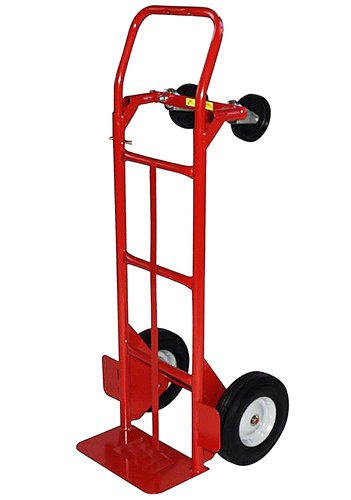 Milwaukee Hand Trucks 40180 Convertible Truck with 10-Inch Puncture Proof Tires and Steel Hub]()