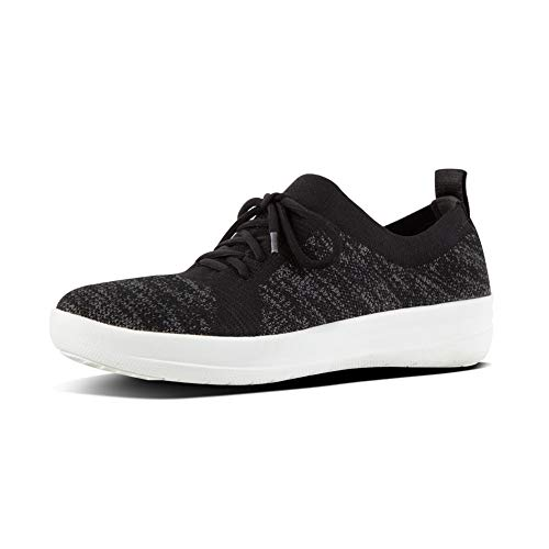 FitFlop Women's F-Sporty Uberknit Sneakers, Black, 5 M US