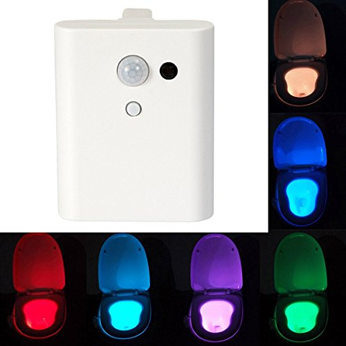 Toilet Light AnGeer Sensor Motion Activated LED Energy-efficient Portable Bathroom Color Changing Nightlight