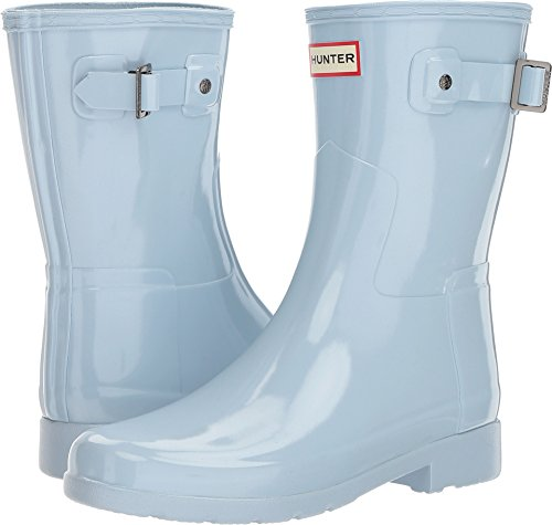 Hunter Women's Original Short Refined Gloss Rain Boot (9 M US, Fountain Blue) from Hunter