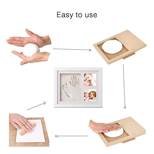Marco de Fotos para Bebé - Newlemo 3D Marco de Huellas para Niños - Regalos para Bebé Recién Nacido