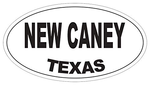 Magnet New Caney Texas Oval Vinyl Magnetic Bumper Sticker Decal D4079 5