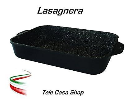 Bandeja para horno (aluminio con revestimiento antiadherente de piedra volcánica CERAMICATA Made in Italy –