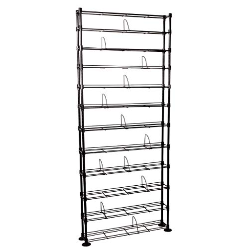 (Atlantic Maxsteel 12 Tier Shelving - Heavy Gauge Steel Wire Shelving for 864 CD/450 DVD/Blu-Ray/Games in Gunmetal)