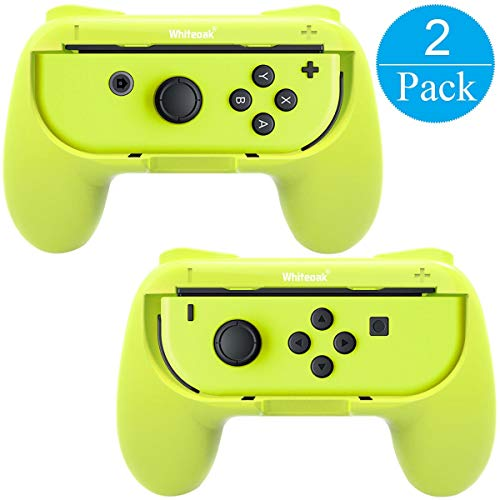 Whiteoak Grip, [Upgraded Version] Wear-resistant Handle Controller Grip Kit compatible with Nintendo Switch, 2 Pack -