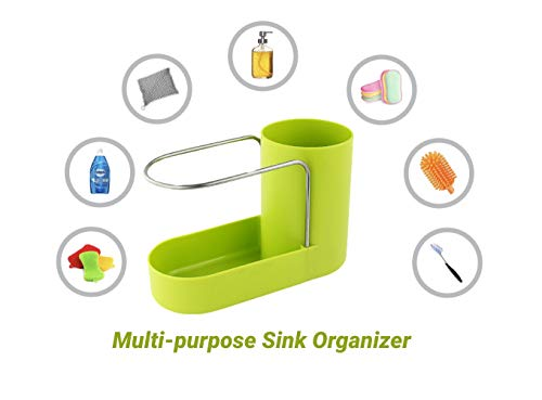 Convenient Kitchen Sink Organizer, Sink Caddy, Sinkware, Sponge Holder, Soap Dish, Brushes and Scrubbers Holder, Bathroom Caddy, Bathroom Organizer | 2 Top Quality Sponges FREE by SKA HomeStore (Image #4)