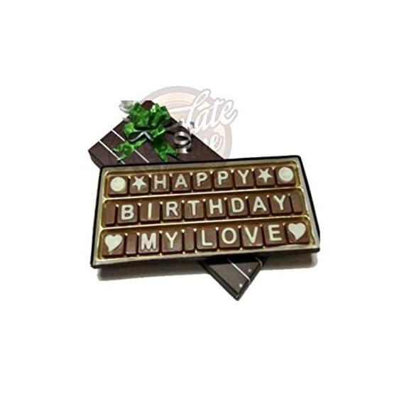 Chocolate Venue Happy Birthday My Love Message (22 x 2.5 x 9 cm)