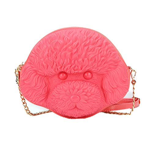 Gezicht Keten Tas Vrouwelijke Bag Hond Rood Rugzak Wild Schouder Oranje Mode Stereo Messenger Persoonlijkheid 3d Schattig EqgrxqwCd