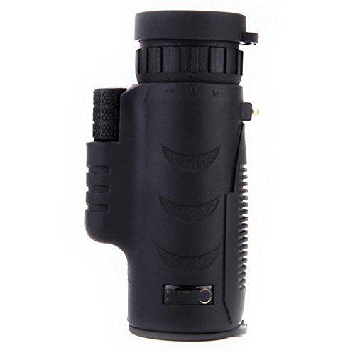WY Monocular Telescope Dual Focus Optics Zoom Telescope Waterproof/Fogproof, Day & Night Vision for Birds/Wildlife/Live Concert 1500m/ 9500m (Color : Black)
