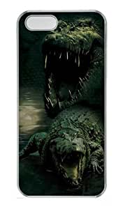 Dark Gator Alligator Custom iPhone 5s/5 Case Cover Polycarbonate Transparent by supermalls