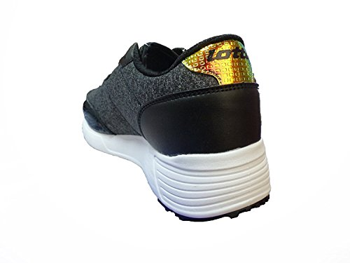 Lotto Women's Day Moon Jersey AMF W Fitness Shoes, Black Black (Blk/Radiant 020)