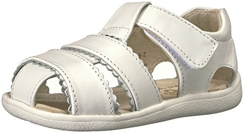 See Kai Run Girls' Gloria II Fisherman Sandal, White, 7.5 M US Toddler