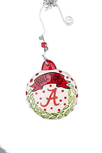 Glory Haus Alabama Puff Ornament, Multicolor - Alabama Holiday Ornament
