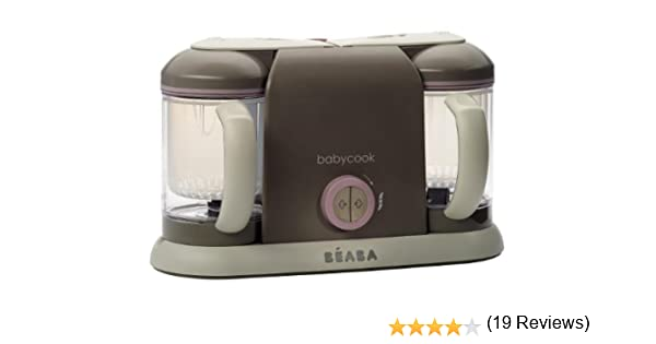BEABA Baby cook - Robot de cocina Duo, color rosa: Amazon.es: Bebé