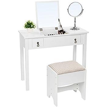 Amazon Com Organizedlife Black Dressing Table Vanity With