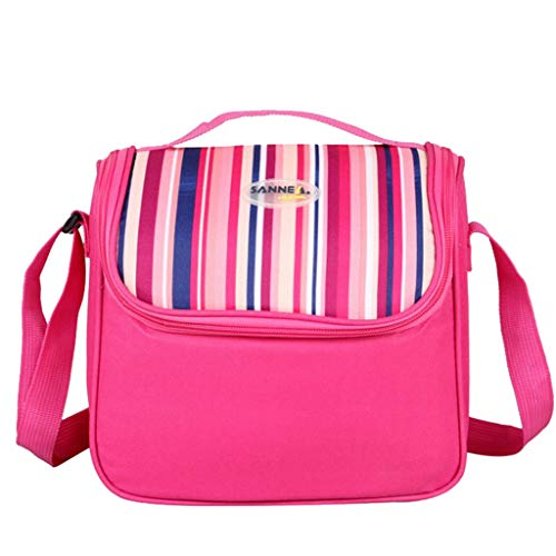Mbtaua-Bag Insulated Double Layer Cooler Lunch Box Design Lunch Bag Box Shoulder Thermal Camping Picnic