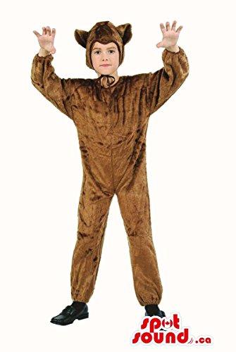 Plush Brown Dog Kids Costumes (Cute Brown Dog Children Size Plush Halloween Costume)