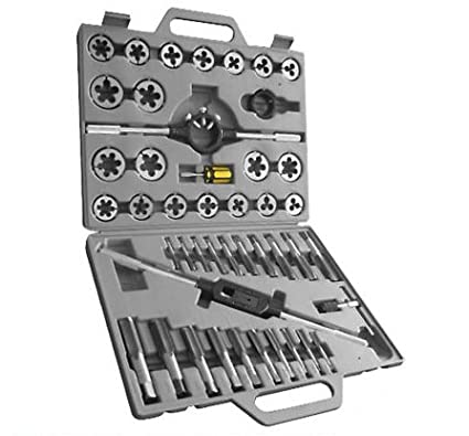45PC TUNGSTEN STEEL JUMBO TAP AND DIE SET METRIC PRO MARKSMAN