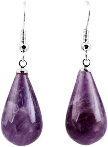 SUNYIK Women's Gemstone Dangle Earrings with Fishhook