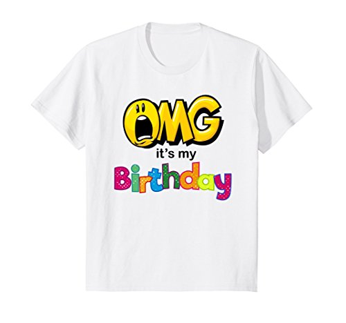 Kids OMG Its My Birthday Emoji Shirt For Women And Men 10 White