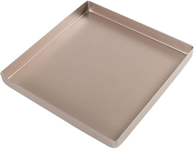 XHHGO Bandeja para Hornear Horno Rollo De Pastel Cuadrado De Aluminio Copo De Nieve Galleta Molde para Pizza Aleación De Aluminio Bandeja para Hornear Cuadrada De Oro: Amazon.es: Hogar