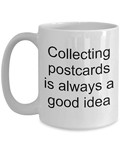 Postcard Collector Gifts Collecting Postcards is Always a Good Idea Mug Postcard Collection Coffee Cup -