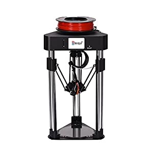 BIQU Magician Lipstick-Sized Delta Rostock 3D Printer(No Need to Assembly Kossel 3D Printer) with 32 Motherboard Controller , 2.8 Inch Touch Screen and Sample 1.75mm PLA Filament(Black) by BIQU