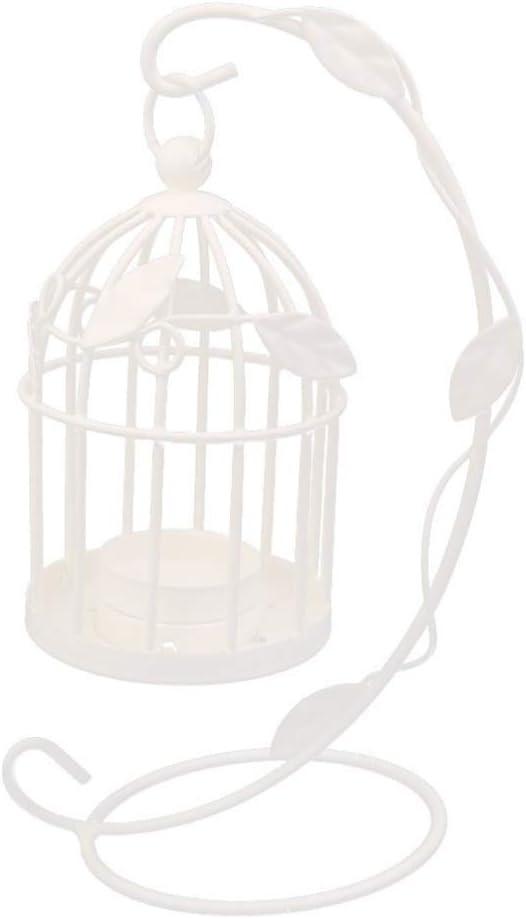 VOSAREA Jaula de pájaros de Hierro Vintage candelabro Decorativo linternas de Velas candelabro Colgante para la decoración del hogar de la Boda