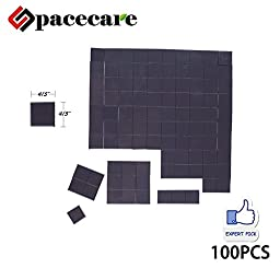 SPACECARE Magnetic Tape,Flexible Adhesive Magnetic Sheets Paper 100PCS 20x20x2MM