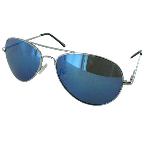 Fashion Eyewear J0880 Metal Frame Aviator Style - Turquoise Aviator Sunglasses
