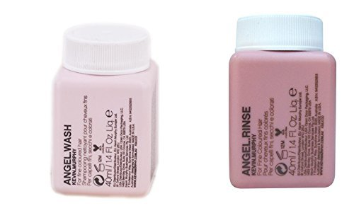 Kevin Murphy Angel Wash and Rinse combo set mini size 40 ml/1.35 Fl Oz Liq. each by Kevin Murphy