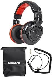 Numark Red Wave Carbon | Lightweight Full-Range DJ Headphones With Swivel Design\, 50mm Drivers\, Detachable H