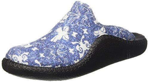 Romika Damen Mokasso 136 Pantoffeln Blau (Blau)