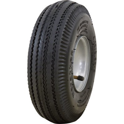 Marathon Tires Pneumatic Wheelbarrow Tire - 3/4in. Bore, 4.10/3.50-4in.