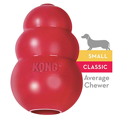 KONG - Classic Dog Toy - Durable Natural Rubber - Fun to Chew, Chase and Fetch - for Small -