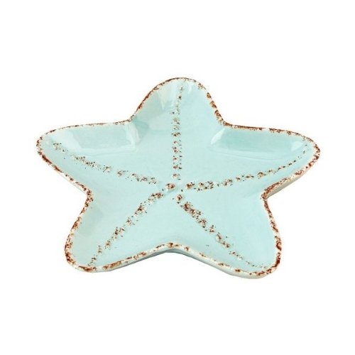 Coastal Shaped Starfish Tidbit Serving Salad Ceramic ()