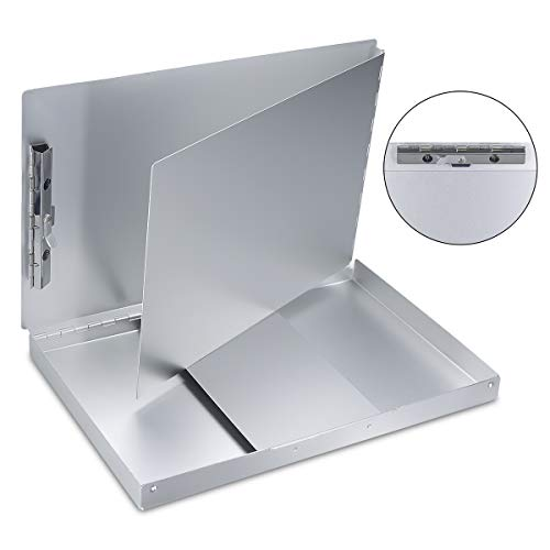 Aluminum Clipboard with Storage Form Holder Portfolio Aluminum Metal Binder Heavy Duty with High Capacity Clip Posse Box - Clipboard for Office Business Professionals Stationer Photo #5