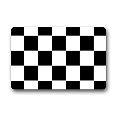 homelover(TM) High Quality Black White Checkered Pattern Design Home Indoor/Outdoor Floor Mat Doormats Kitchen Decor Floor Mats Rugs 23.6 X 15.7 Inches