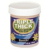 Deco Art NOM268333 Triple Thick Brilliant Brush-On Gloss Glaze, 4 Ounce Jar