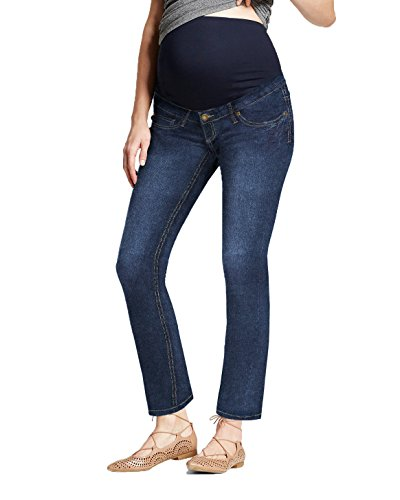 HyBrid & Company Super Comfy Stretch Women's Maternity Bootcut Jeans PM2835JP Dark WASH1 Large