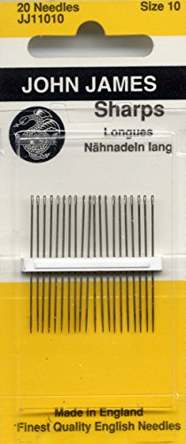 Colonial Needle JJ110-10 20 Count John James Sharps Needle, Size 10