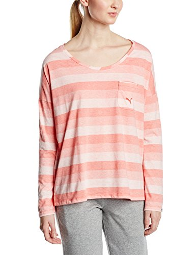 Puma – Camiseta de mujer Style Personal Best Long Sleeve Tee W, 834351 21 Cayenne/Striped