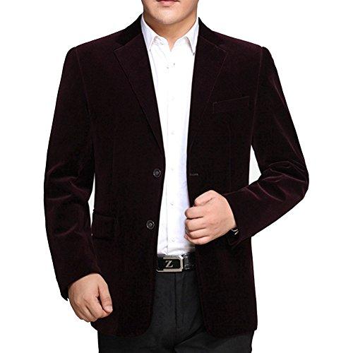 BiSHE Mens Cord Blazer Mantel Smart formales Abendessen Baumwolle Anzüge  Jacket Men: Amazon.de: Bekleidung